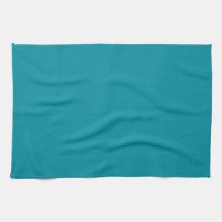 Fondo personalizado azul del color del trullo de toallas de mano