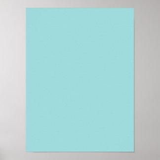 Fondo personalizado azul del color del trullo de póster