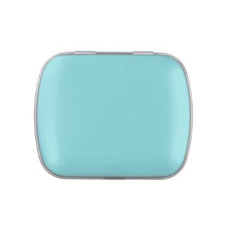 Fondo personalizado azul del trullo de la frascos de caramelos