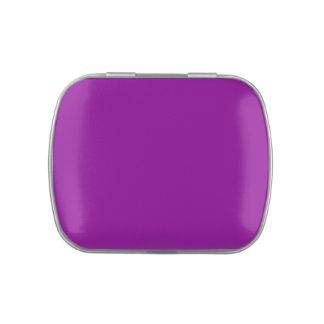 Fondo personalizado púrpura eléctrica de la latas de dulces