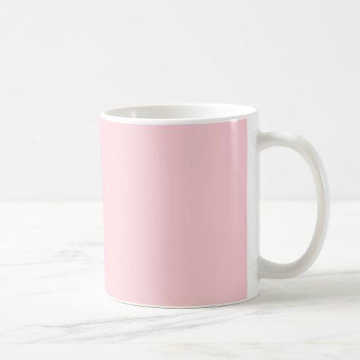 Fondo personalizado rosa claro de la primavera más taza de café