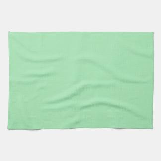 Fondo personalizado verde claro de la primavera toalla de cocina