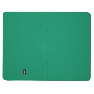 Fondo personalizado verde del color de la cuaderno grapado