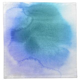 Fondo pintado a mano 12 de la acuarela abstracta servilletas imprimidas