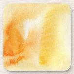 Fondo pintado a mano 14 de la acuarela abstracta posavasos de bebida
