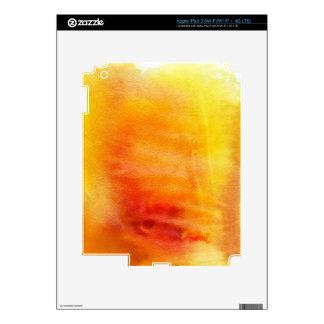 Fondo pintado a mano 19 de la acuarela abstracta iPad 3 pegatinas skins