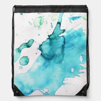 Fondo pintado a mano 2 2 de la acuarela abstracta mochila