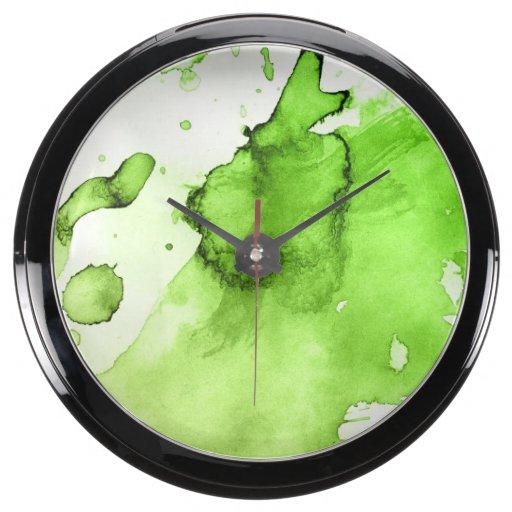 Fondo pintado a mano 3 2 de la acuarela abstracta relojes acuario