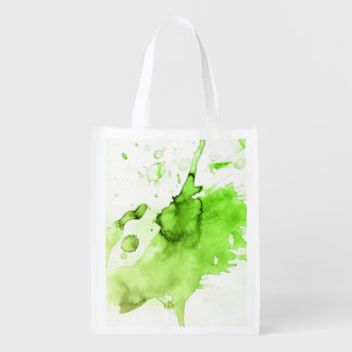 Fondo pintado a mano 3 3 de la acuarela abstracta bolsa reutilizable
