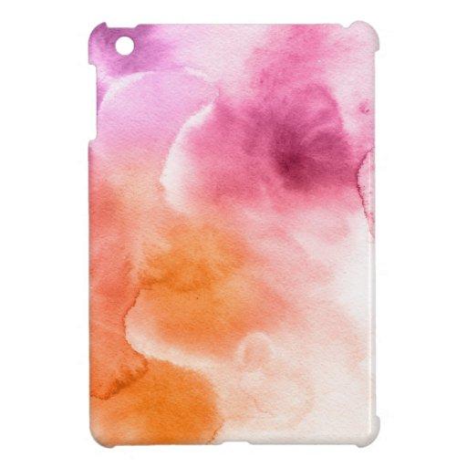Fondo pintado a mano 3 de la acuarela abstracta iPad mini coberturas