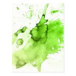 Fondo pintado a mano 3 de la acuarela abstracta tarjetas postales
