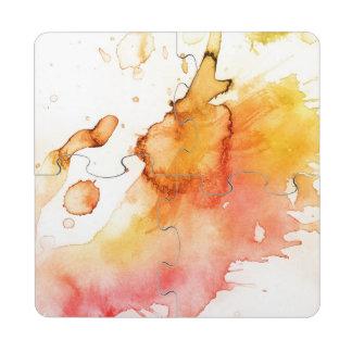 Fondo pintado a mano 4 de la acuarela abstracta