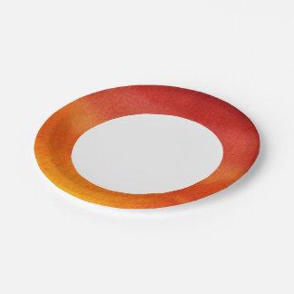 Fondo pintado a mano 5 2 de la acuarela abstracta platos de papel