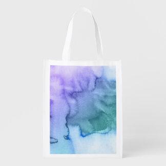 Fondo pintado a mano 6 2 de la acuarela abstracta bolsa de la compra