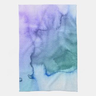 Fondo pintado a mano 6 de la acuarela abstracta toallas