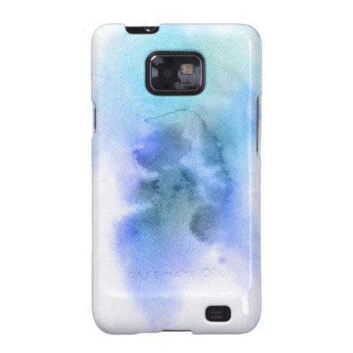 Fondo pintado a mano 9 de la acuarela abstracta carcasa galaxy s2