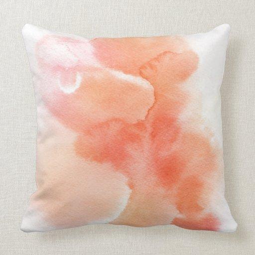 Fondo pintado a mano de la acuarela abstracta almohadas