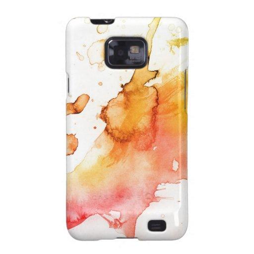 Fondo pintado a mano de la acuarela abstracta samsung galaxy s2 carcasa