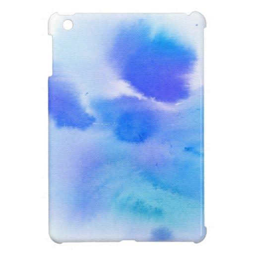 Fondo pintado a mano de la acuarela abstracta iPad mini coberturas