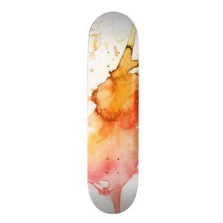 """Fondo pintado a mano de la acuarela abstracta patineta 7 3/8"""""""