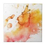Fondo pintado a mano de la acuarela abstracta teja