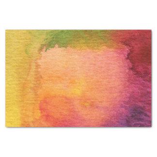 Fondo pintado acuarela abstracta papel de seda pequeño