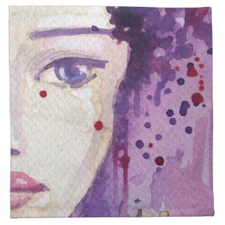 Fondo pintado de la acuarela servilleta imprimida