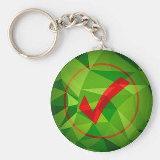 Fondo polivinílico bajo rojo verde del icono de la llavero redondo tipo pin