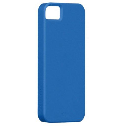 Fondo profundo llano del azul de cielo funda para iPhone SE/5/5s