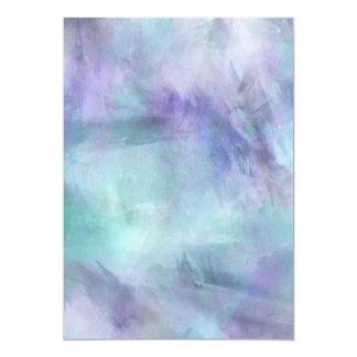 """Fondo púrpura azul en colores pastel de la invitación 5"""" x 7"""""""