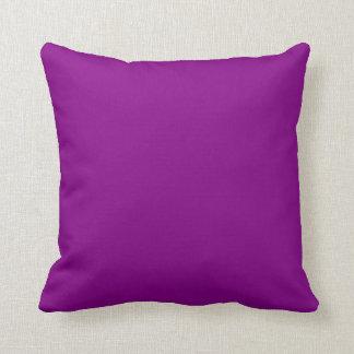 Fondo púrpura de color sólido del ciruelo profundo cojines