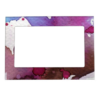 Fondo púrpura de la acuarela foto de imanes