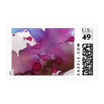 Fondo púrpura de la acuarela sello