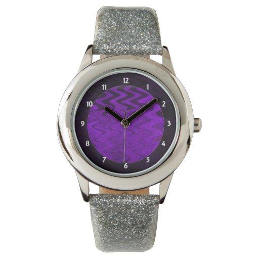 fondo púrpura elegante relojes de pulsera