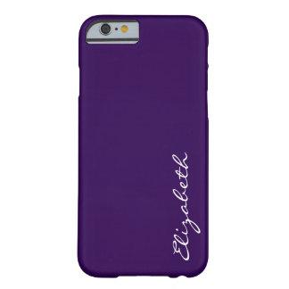 Fondo púrpura llano funda de iPhone 6 barely there