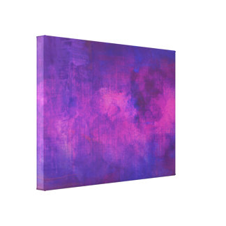 Fondo púrpura y rosado del extracto de la acuarela impresión en lona estirada