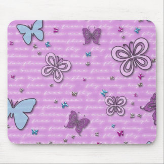 Fondo que agita de las mariposas lindas alfombrilla de ratón