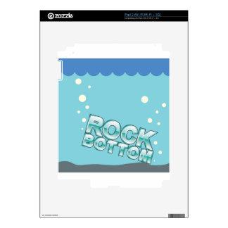 Fondo que golpea diseño de las palabras skin para el iPad 2