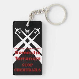 Fondo químico de la oscuridad del areTerrorism de  Llavero