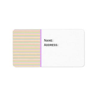 Fondo rayado de la primavera en colores pastel etiquetas de dirección