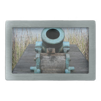fondo rechoncho de la hierba del agua del canon hebilla de cinturón rectangular