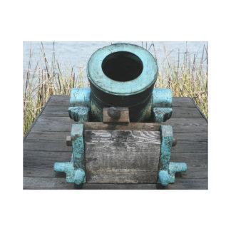 fondo rechoncho de la hierba del agua del canon impresión en lienzo
