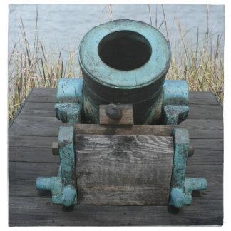 fondo rechoncho de la hierba del agua del canon servilleta imprimida
