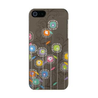 Fondo retro abstracto colorido de Brown de las Funda Para iPhone 5 Incipio Feather Shine