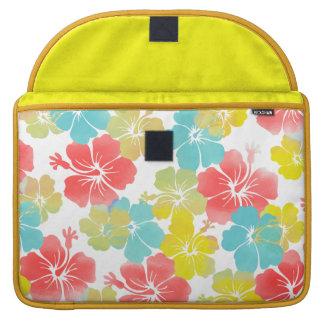Fondo retro de PixDezines hibiscus/DIY Fundas Para Macbooks