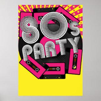 Fondo retro del fiesta poster