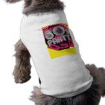 Fondo retro del fiesta playera sin mangas para perro