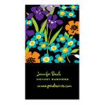 Fondo retro del japonés Iris/DIY de PixDezines Tarjetas De Visita