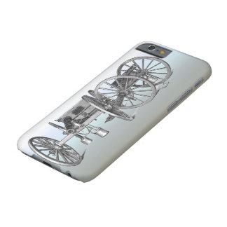 Fondo revolucionario del azul del arma del cañón funda para iPhone 6 barely there