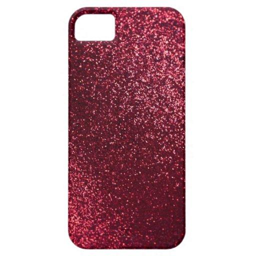 Fondo rojo abstracto del navidad iPhone 5 carcasas